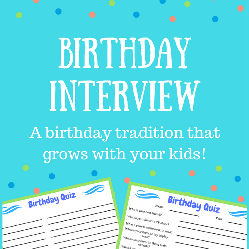 Birthday Traditions To Start With Your Kids