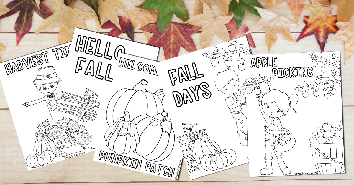 Printable Fall Coloring Pages Babies To Bookworms